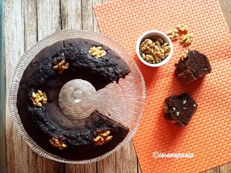 torta alle noci e cioccolato