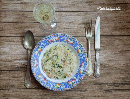 risotto con salmone e zucchine