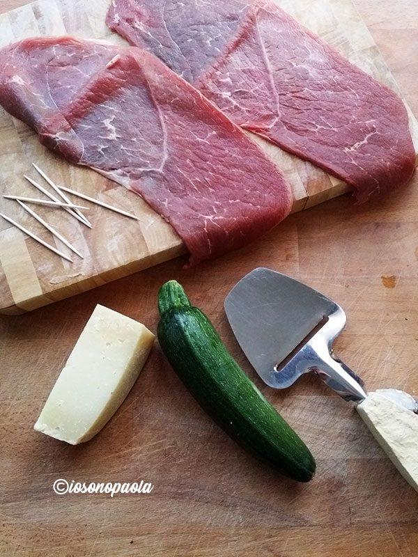 involtini di carne con verdure