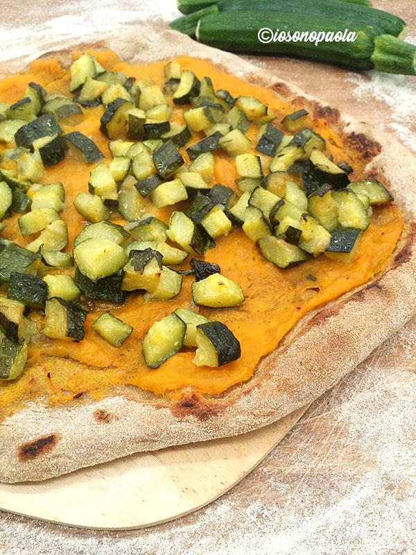 pizza zucca e zucchine