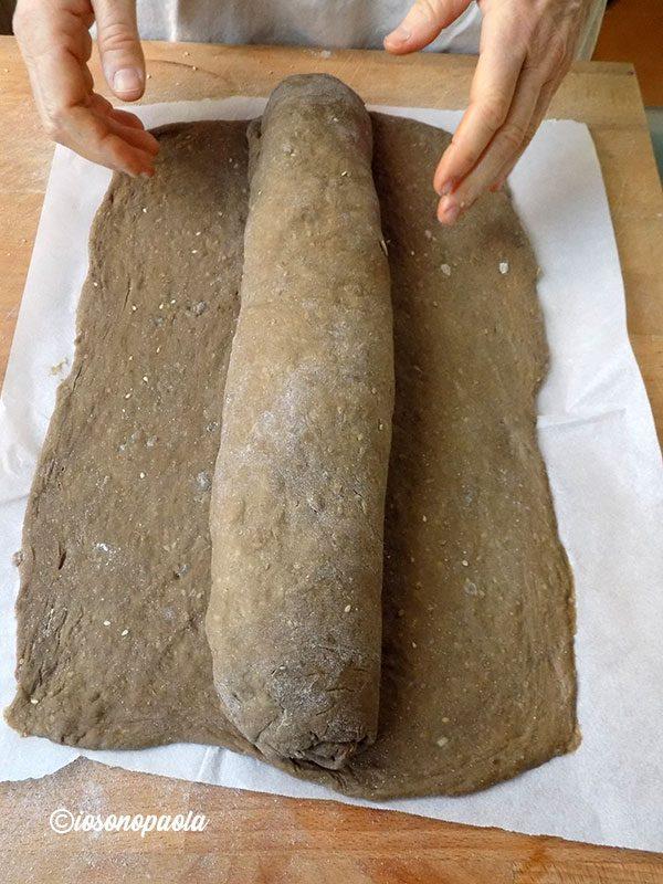 rotolo di pan brioche