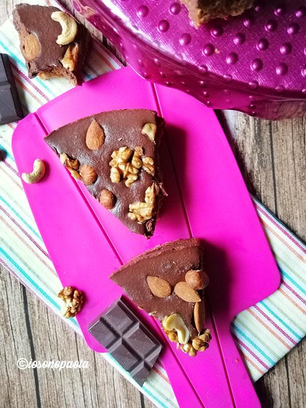 torta fredda al cioccolato